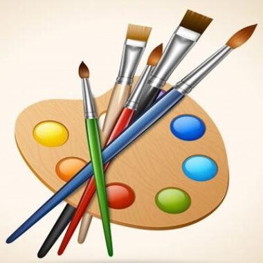 Pinturas, pinceles y herramientas